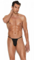 Blow My Whistle: Sexy Pouch Thong - Black - Size Small/Medium