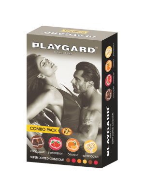 Playgard Super Dotted Condoms Combo