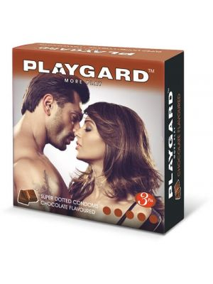 Playgard Super Dotted Chocolate Flavored Condoms