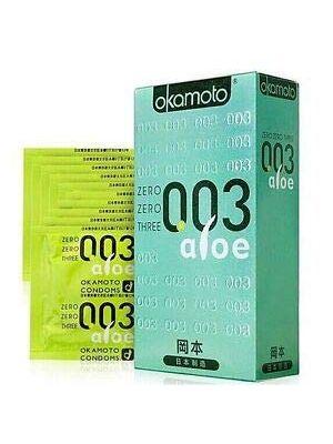 Okamoto 003 (0.03) Aloe Condoms - 10 Pieces- Made in Japan