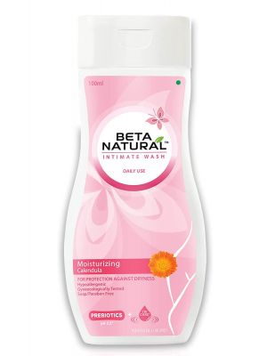 Beta Natural Intimate Wash (Foam Wash-Gentle Protection - Immortelle)   For Hygiene & Protection   Hypoallergenic   Gynaecologically Tested   Soap/Paraben Free - 100 ml
