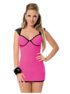 Eat Me with your Eyes - Pink Champagne - Sexy Chemise -Free Size - Pink
