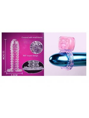 Deluxe Ultra Fine Climax Delay Crystal Condom - SNUG FIT & Screaming Oh Vibrating Ring - Combo