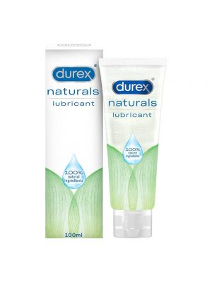 Durex Lube Naturals Intimate Lubricant Gel for men & women - 100 ml | 100% Natural ingredients | Compatible with condoms & toys
