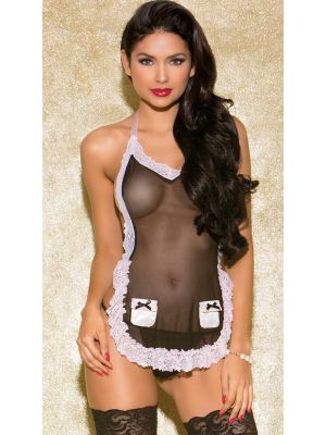 Eat Me with your Eyes - Midnight Mystery - French Maid Erotic Costume - Free size