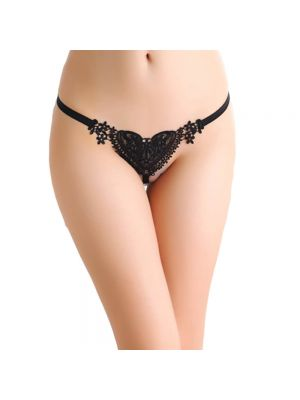 Eat Me with your Eyes - Pearl Butterfly - Erotic Panty - Black - Free Size