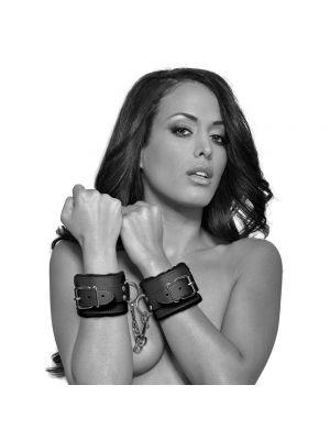 Fanny Bomb: Surrender Hand Cuff - Pure Leather Black