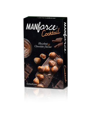 Manforce Cocktail Chocolate-Hazelnut Flavored and Dotted Condoms - 10's Pack