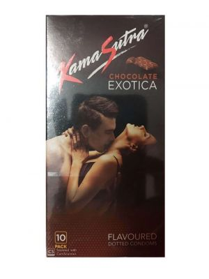 KamaSutra Exotica Chocolate Flavoured and Power Dotted Condoms - 10's Pack
