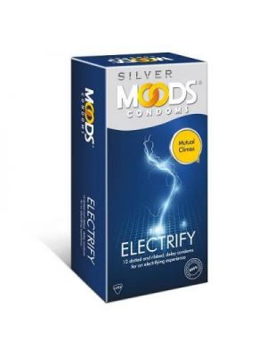 Moods Silver Electrify Delay and Multi Textured Condoms - 12's Pack