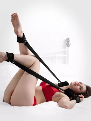 Fanny Bomb -  Neck Wrist to Ankle position restraint for easy legs-up for Erotic play
