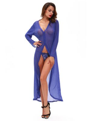 Eat Me with your Eyes - Straight Stunner Robe - Free Size - Royal Blue