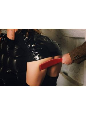 Fanny Bomb - Hot Shot - Spanking Paddle for Erotic Play - Pure Leather