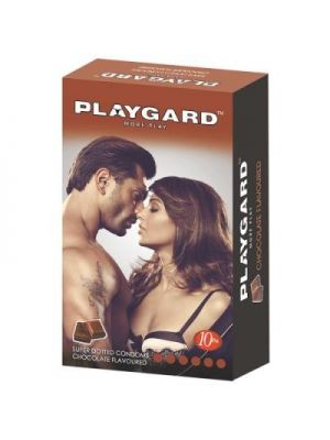 Playgard Chocolate Flavoured Dotted Condom - 10's Pack