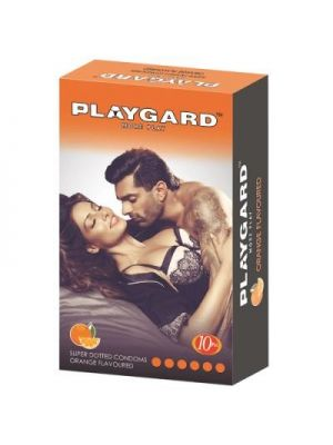 Playgard Orange Flavoured - SUPER DOTTED Condom - 10's Pack