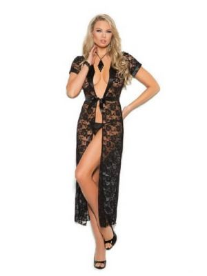 Eat-Me with Your-Eyes Instincts Night Gown - Black - Free Size