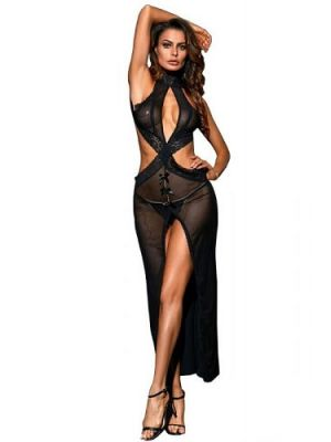 Eat Me with your Eyes - Salacious Long dress - Black - Free Size