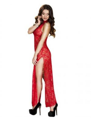 Eat-Me with Your-Eyes Mischief Night Gown - Red - Free Size