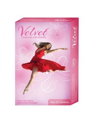 Velvet Female Condom - 3's Pack