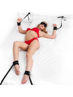 Fanny Bomb - Ankle and Wrist to Bed Frame Restrain for Erotic Play