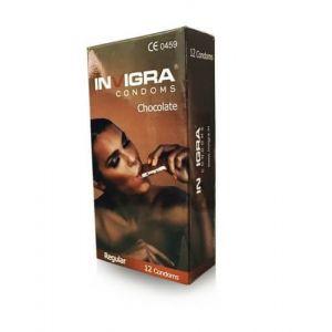 Invigra Chocolate Flavored Condoms - 12's Pack