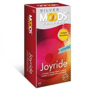 Moods Silver Joyride Scented and Multi Texture Condoms - 12's Pack