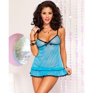 Eat Me with your Eyes - Fall to Pieces - Sexy Baby Doll - Blue - Free Size