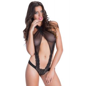 Eat Me with your Eyes - Itsy Bitsy- Sexy Teddy - Black - Free Size