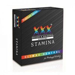 XXX - Stamina - Climax Delay Condoms - 4's Pack